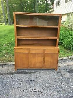 Conant Ball Buffet Server Hutch Blonde 50's mid century modern Russel Wright