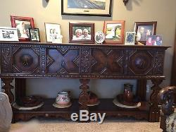 Dining Set, circa 1915. Includes china cabinet, buffet, server table and chairs