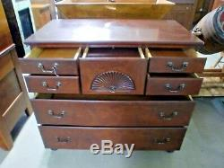 Drexel Antique Server With Silver Chest Drawer Mahogany Buffet Sideboard
