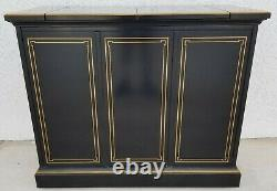 Drexel Heritage Chinoiserie Rolling Lacquer Asian Oriental Buffet Server Dry Bar