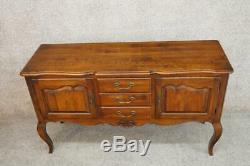 ETHAN ALLEN Solid Hardwood French Country Sideboard Buffet Console Server USA
