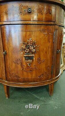 Ethan Allen $3,200 Rare French Country Demilune Buffet Server Console