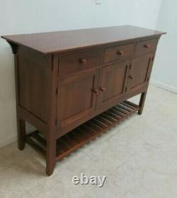 Ethan Allen American Impressions Server Sideboard Buffet w MIRROR Excelnt Cherry