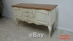 Ethan Allen Country French High leg Painted Sideboard Buffet Server Console