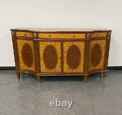 Ethan Allen Inlaid Mahogany Easton Sideboard Server Buffet Console Marquetry