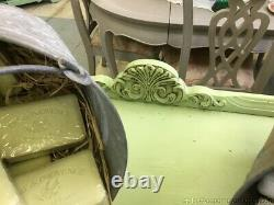 Farm House Buffet Painted Green Side Server Storage Any Room Repurpose Sink