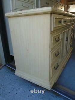 Faux Bamboo Thomasville Sideboard Hollywood Regency Bar Buffet Server Cabinet