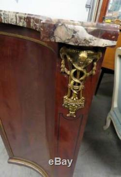 Fine French Louix XVI Marble Top Bronze Mounted Buffet Server Commode Chest 1890