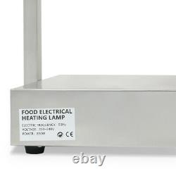 Food Heating Light Lamps Buffet Warmer Stainless Steel 890W Catering Server