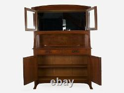 French Art Nouveau Carved Walnut Buffet Server Cabinet, 20th Century