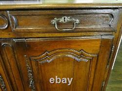 French Country Buffet Antique Sideboard Server Hand Carved Dark Oak Provence