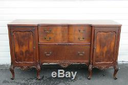 French Early 1900s Large Server Sideboard Buffet by Batesville Cabinet 9930