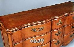 French Louis XV Style Fruitwood Chest Dresser Sideboard Server Provincial Buffet