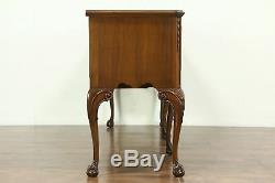 Georgian Style Vintage Carved Walnut Sideboard, Server, Buffet by Klode #28838