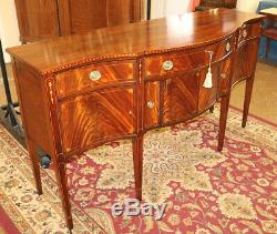 Gorgeous Early 20th Century Flame Mahogany Federal Style Sideboard Server Buffet