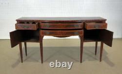 Gorgeous Inlaid Flame Mahogany Sheraton Style Sideboard Server Buffet C1920s