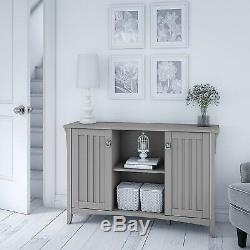 Gray Wooden Storage Cabinet Dining China Hutch Sideboard Cupboard Buffet Server