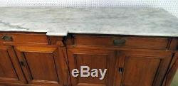 Great White Marble Top Baltic Kitchen Island Back Bar Sideboard Buffet Server