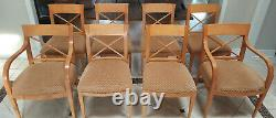 High End Baker Furniture Archetype Collection Table, Chairs & Server/Buffet
