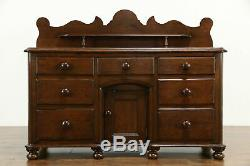 Irish Antique 1860 Country Pine Sideboard, Server or Buffet #34373