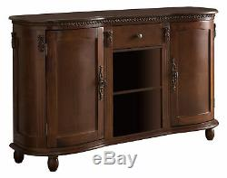 Kings Brand Furniture Buffet Server / Sideboard Console Table Cabinet, Walnut