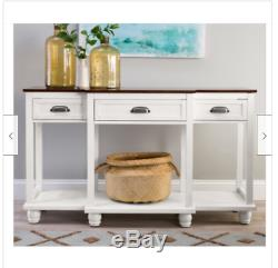 Kitchen Buffet Table Wood Console Drawer Storage Dining Rm Server Storage White