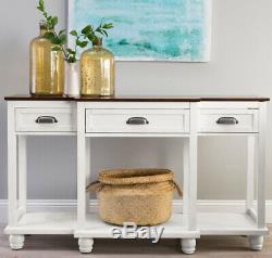 Kitchen Buffet Table Wood Console Drawer Storage Dining Room Server Storage Whit