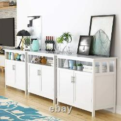 Kitchen Sideboard Dining Buffet Server Storage Cabinet Cupboard with Shelf & Doors