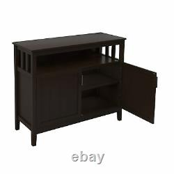 Kitchen Storage Cabinet Buffet Server Table Sideboard Dining Room Wood Brown