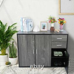 Kitchen Storage Cabinet Buffet Server Table Sideboard Dining Room withDrawer Doors