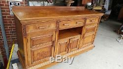 Large 6' long Antique Sideboard Buffet Server Solid Cherry Beautiful