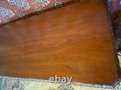 Large Antique Mahogany Server Sideboard Buffet Cabinet