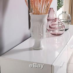 Large Buffet Cabinet Sideboard Server Table Dining Furniture High Gloss White
