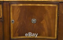 Large Wide Tall Antique Style New Mahogany Serpentine Sideboard Buffet Server