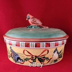 Lenox China WINTER GREETINGS ED Coverd Buffet Server Casserole Bowl Every Day