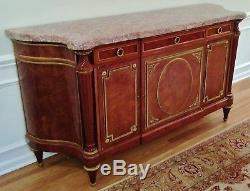 MUSEUM 19th C FRENCH Jansen BRONZE MARBLE TOP SIDEBOARD Server BUFFET SIGNED