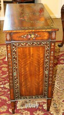 Maitland Smith Adams Style Paint Decorated Satinwood Buffet Server Chest