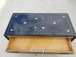 Mid Century Mastercraft Lacquered Rolling Dry Bar Sideboard Buffet Server Cart