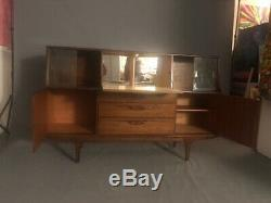 Mid Century Modern Danish walnut Console Furniture, Cabinet Buffet Server Sidebo