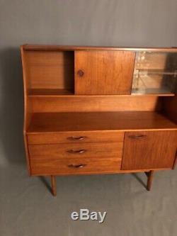 Mid Century Modern teak Console Furniture, Cabinet Buffet Server Sidebo
