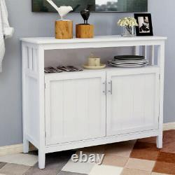 Modern Kitchen Storage Cabinet Buffet Server Table Sideboard Dining Wood BS