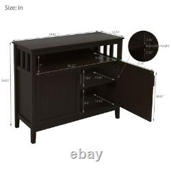 Modern Kitchen Storage Cabinet Buffet Server Table Sideboard Dining Wood Brown