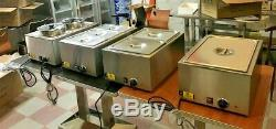 NEW 2 Pan Electric Warmer Restaurant Buffet Catering Food Server NSF Bane Marie