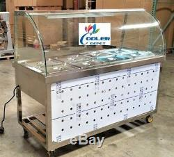 NEW 60 Warmer Steam Table Buffet Car Warm Food Server 8 Compartment Model C8