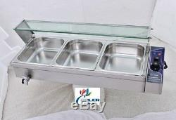 NEW Commercial #3 Pan Table Counter Top Buffet Steam Warmer Server Catering