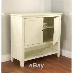 NEW White Buffet Floor Cabinet Display Storage 2 Doors China Case Server Elegant