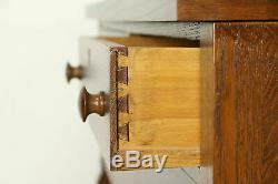 Oak Empire Antique Sideboard, Server or Buffet, Beveled Mirror Gallery #30948
