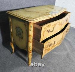 Paint Decorated French Louis XV Commode Dresser Buffet Server, circa 1920