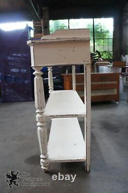 Primitive Antique 19th C. Country French Buffet Sideboard White Console Server