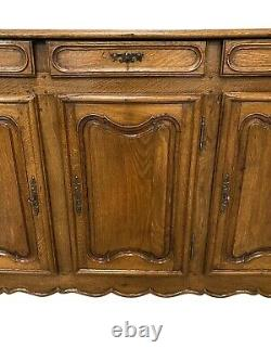Primitive French Country Server, Buffet, Sideboard, Oak, 1920's